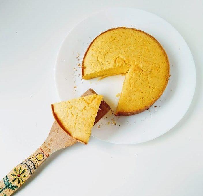 Кукурузный кекс с лимоном