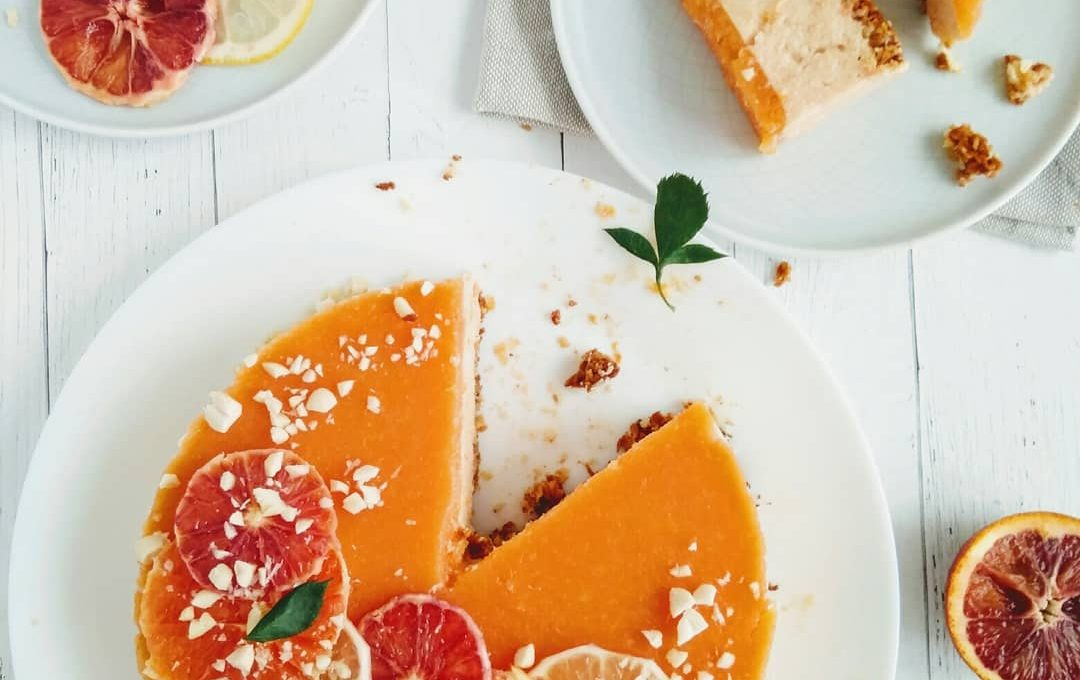 Легкий апельсиновый чизкейк из кешью
