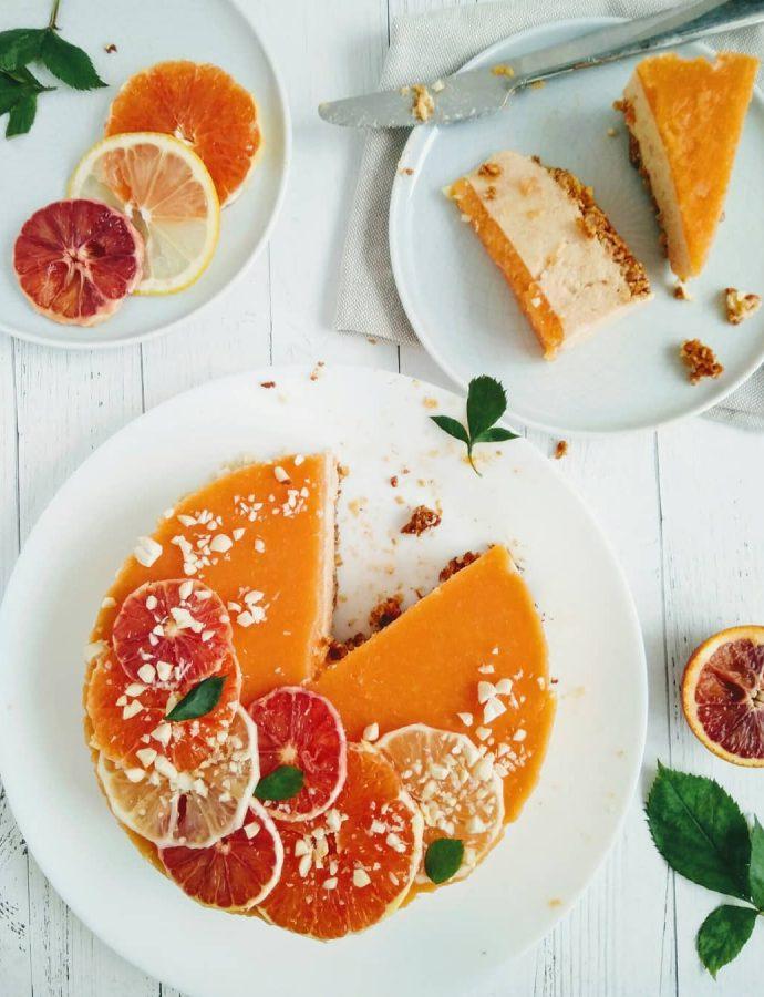 Легкий апельсиновый кешьюкейк