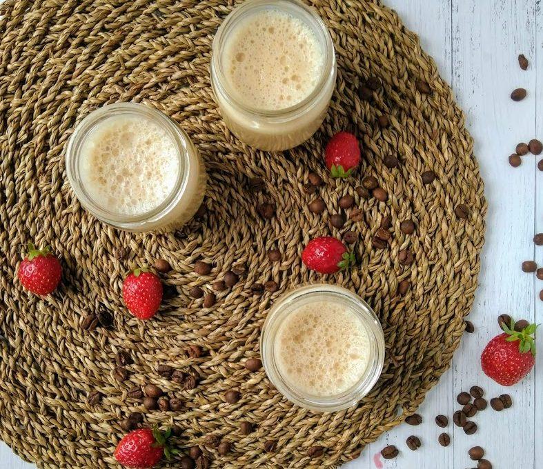 Желе из ряженки с кофе