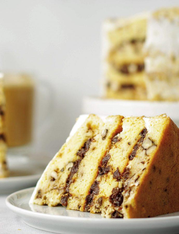 Торт с грецким орехом и черносливом