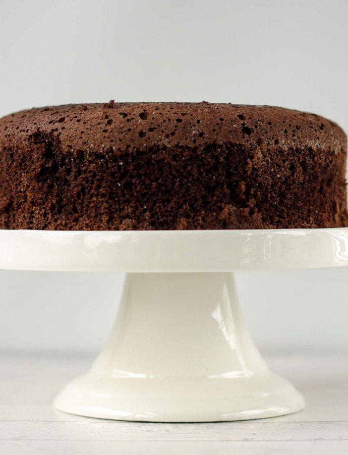 Простой шоколадный ПП бисквит
