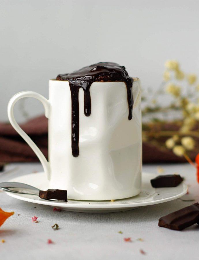 Шоколадный кекс в кружке