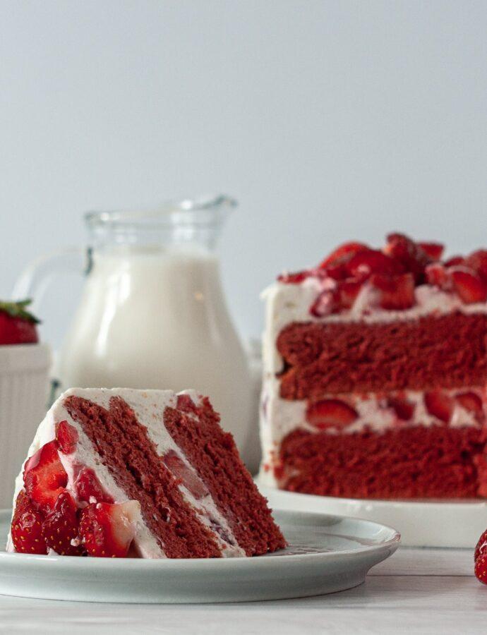 ПП торт с клубникой