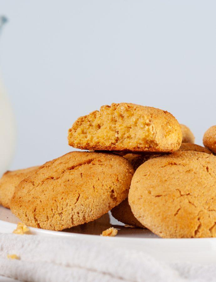 Кукурузно-лимонное печенье без глютена