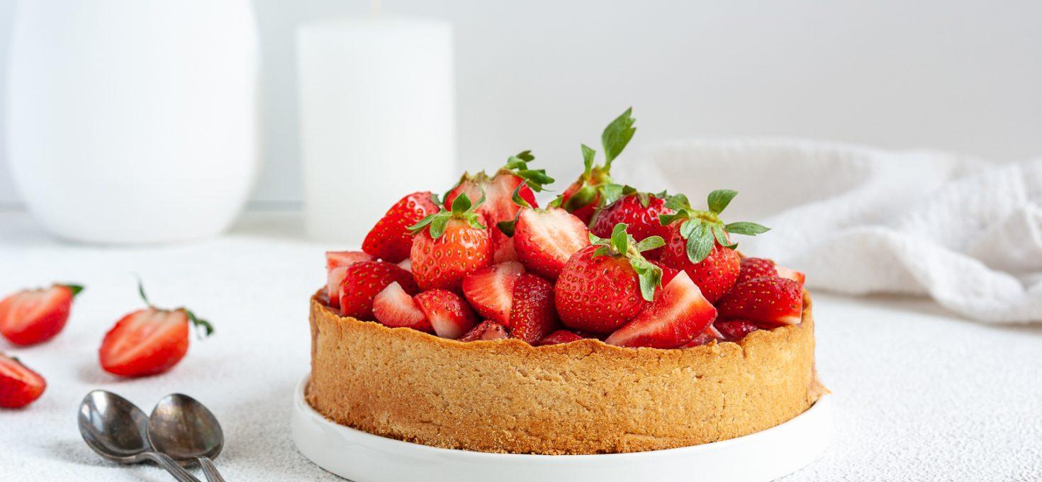 Клубничный пирог без сахара
