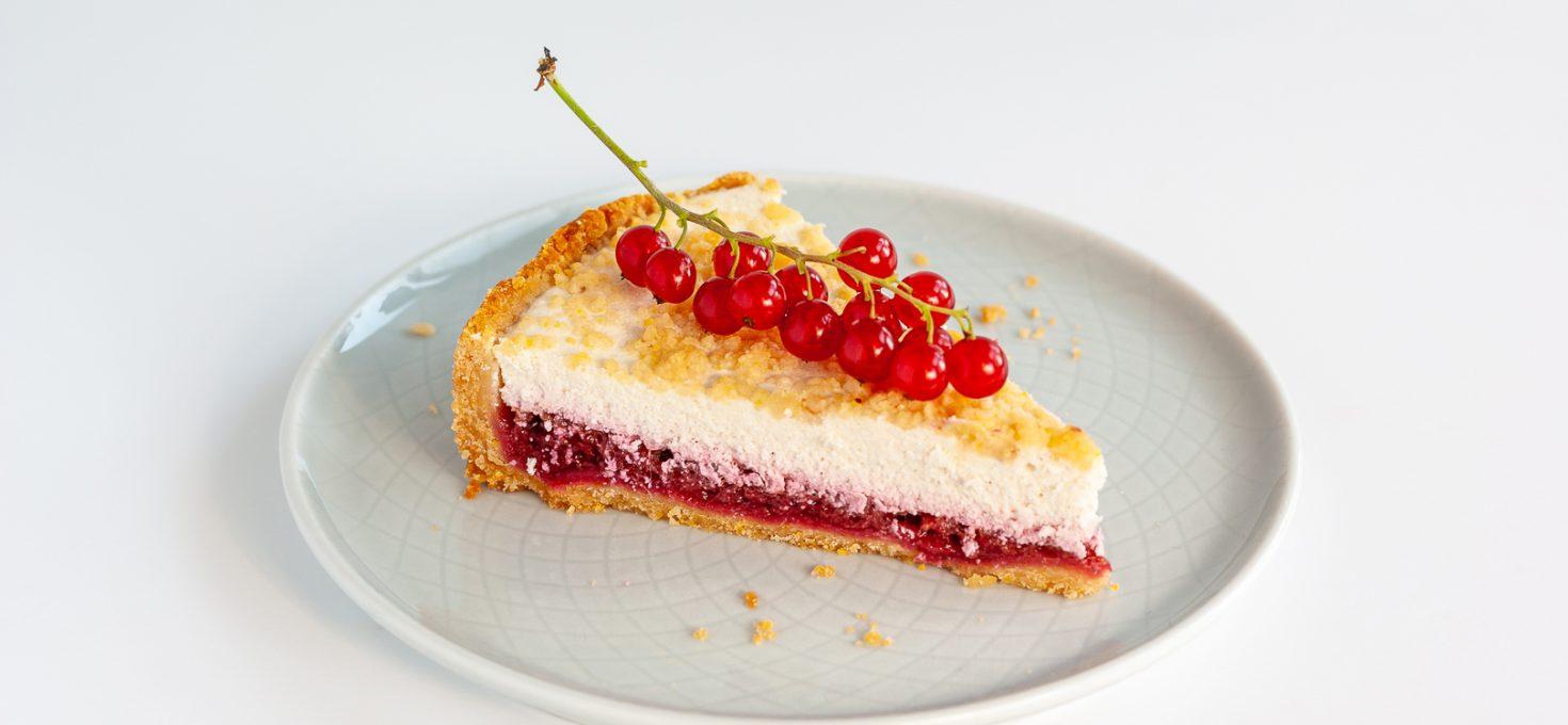 ПП творожный пирог с ровной ягодной прослойкой